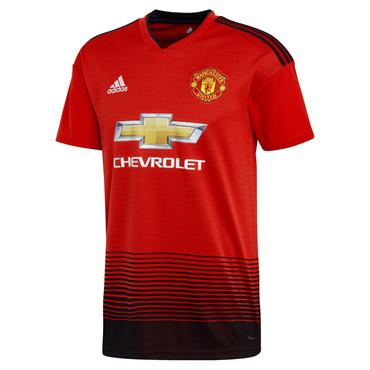 ADULTS MAN UNITED 2018/19 HOME JERSEY - RED