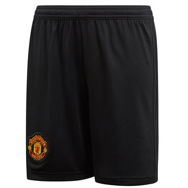 KIDS MAN UNITED 2018/19 HOME SHORTS - BLACK