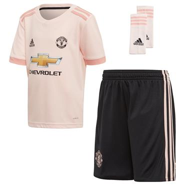 ADIDAS KIDS MAN UNITED AWAY KIT 18/19 - PINK/BLACK