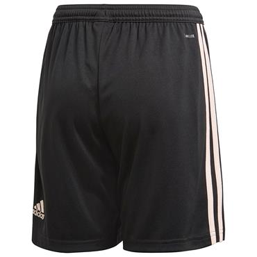 ADIDAS KIDS MAN UNITED AWAY SHORTS 18/19 - BLACK/PINK