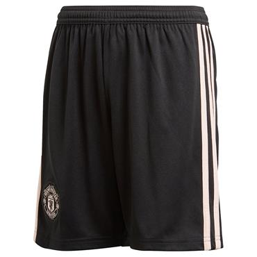 Adidas Kids Manchester United Away Shorts 2018/19 - Black/Pink