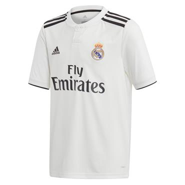 KIDS REAL MADRID HOME JERSEY 2018/19 - WHITE