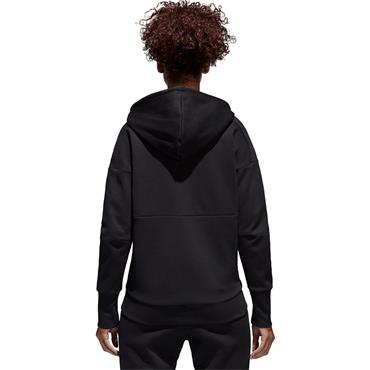ADIDAS WOMENS ID STADIUM FULL ZIP HOODIE - BLACK