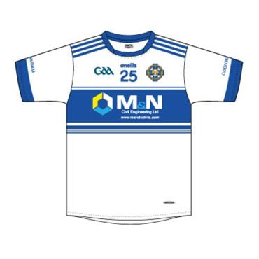 O'Neills Adults Cloughaneely Tight Fit Away Jersey - WHITE