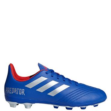 ADIDAS PREDATOR 19.4 FXG J FOOTBALL BOOT - BLUE/SILVER