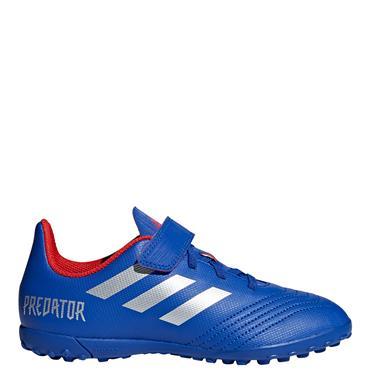 Adidas Kids Predator 19.4 Astro Turf Boot - Blue/Silver