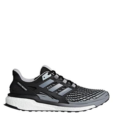 ADIDAS MENS ENERGY BOOST RUNNING SHOE - BLACK/GREY