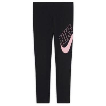 Nike Girls Sportswear Graphic Leggings - BLACK