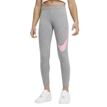 Nike Girls Sportswear Graphic Leggings - Grey