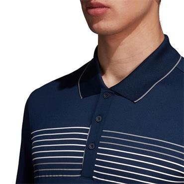 MENS GOLF ESSENTIALS TEXTURED POLO - NAVY