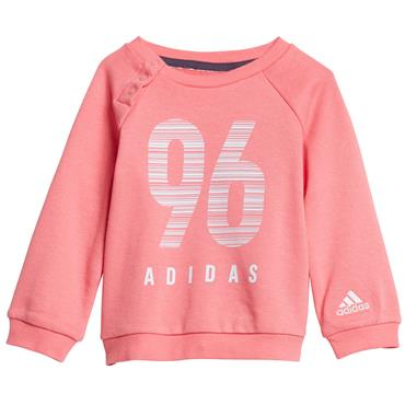 BABY GIRLS CREW TERRY JOGGER TRACKSUIT - PINK