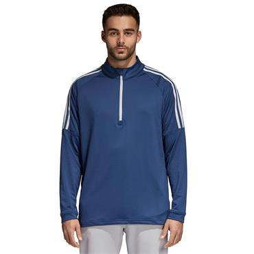 ADIDAS MENS 3 STRIPES GOLF SWEATSHIRT - NAVY