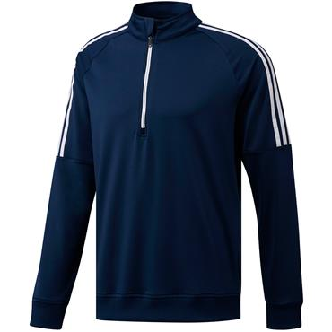 Adidas Mens 3 Stripe Half Zip Sweater - Navy