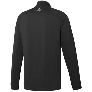 ADIDAS MENS3 STRIPE HALF ZIP SWEATSHIRT - BLACK