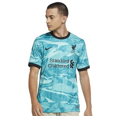Nike Mens Liverpool 2020/21 Away Jersey - Green