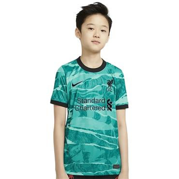 Nike Kids Liverpool 2020/21 Away Jersey - Green