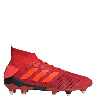 Adidas Adults Predator 19.1 SG Football Boots - Red/Black