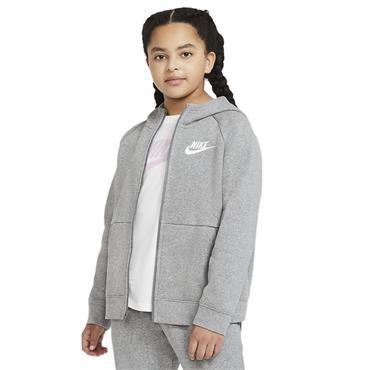 Nike Girls Full Zip Hoodie - Grey