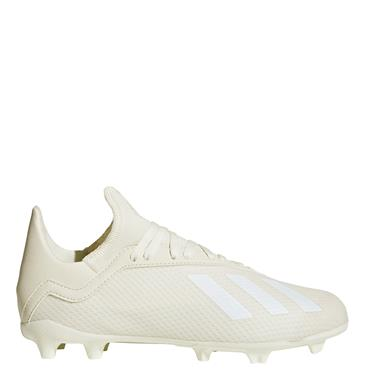ADIDAS KIDS X 18.3 FG FOOTBALL BOOTS - OFF WHITE