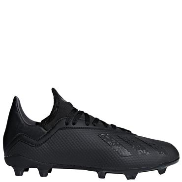 KIDS X 18.3 FG FOOTBALL BOOTS - BLACK
