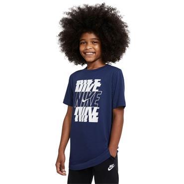 Nike Boys NSW Stack Tshirt - BLUE