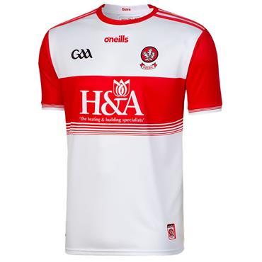 O'Neills Adults Derry GAA Home Jersey 19/20 - White