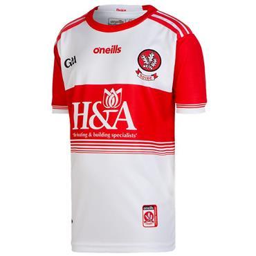 O'Neills Kids Derry GAA Home Jersey 19/20 - White