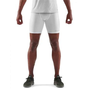 SKINS DNAMIC FORCE MENS 1/2 TIGHTS - WHITE
