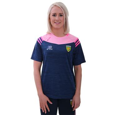 WOMENS DONEGAL COLORADO 01 TSHIRT - MARINE/COTTON CANDY/PINK