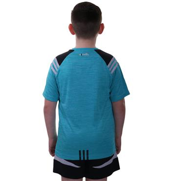 KIDS DONEGAL COLORADO 01 TSHIRT - TEAL/BLACK/SILVER