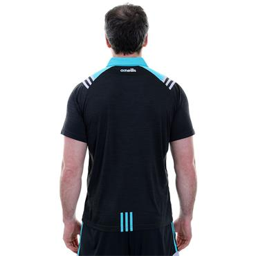 ADULTS DONEGAL COLORADO 05 POLOSHIRT - BLACK/TEAL/SILVER