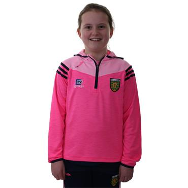 O'Neills Girls Donegal GAA Colorado 105 Half Zip Hoodie - Pink