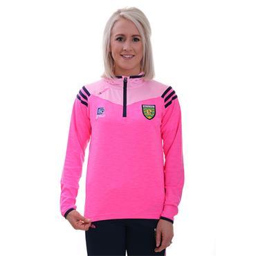 O'Neills Womens Donegal GAA Colorado 105 Half Zip Hoodie - Pink