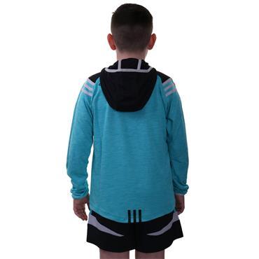 KIDS DONEGAL COLORADO 105 HZ HOODIE - TEAL/BLACK/SILVER