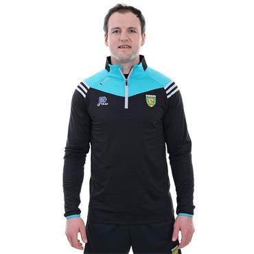 O'Neills Adults Donegal GAA Colorado 122 Brushed Half Zip - Black