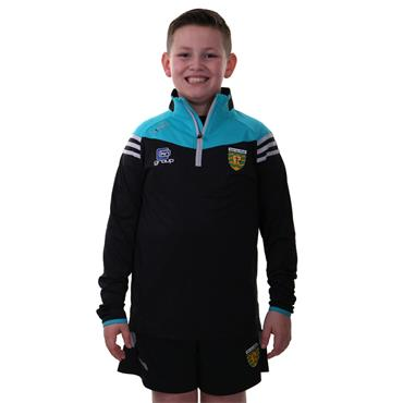 O'Neills Kids Donegal GAA Colorado 122 Brushed Half Zip - Black