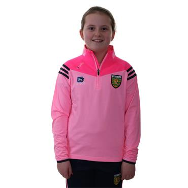 O'Neills Girls Donegal GAA Colorado 122 Brushed Half Zip - Pink