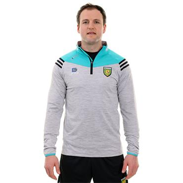 O'Neills Adults Donegal GAA Colorado 122 Brushed Half Zip - Silver