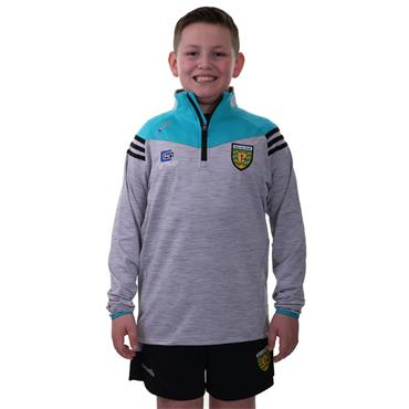 O'Neills Kids Donegal GAA Colorado 122 Brushed Half Zip - Silver