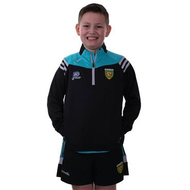 O'Neills Kids Donegal GAA Colorado 30 Half Zip - Black