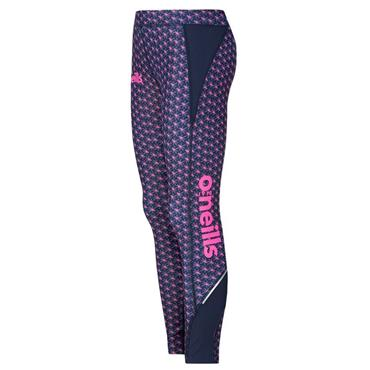 O'Neills Girls Colorado 40 Leggings - Navy/Pink