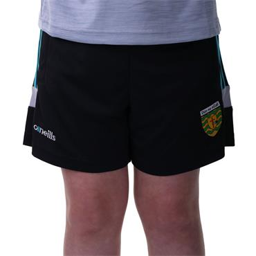 KIDS DONEGAL COLORADO 49 POLY SHORTS - BLACK/TEAL/SILVER