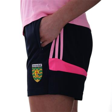 WOMENS DONEGAL COLORADO 49 POLY SHORTS - MARINE/COTTON CANDY/PINK