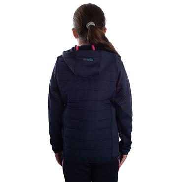 GIRLS DONEGAL HOLLAND 72 FLEECE JACKET - MARINE/PINK/BLUE