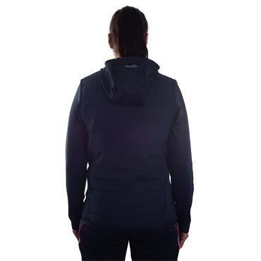 WOMENS DONEGAL HOLLAND 72 FLEECE JACKET - MARINE/PINK/BLUE