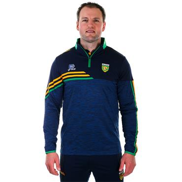 O'Neills Adults Donegal GAA Nevis 122 Brushed Half Zip - Navy