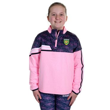 O'Neills Girls Donegal GAA Nevis 122 Brushed Half Zip - Pink