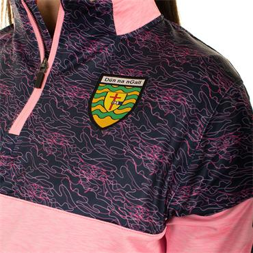 O'Neills Womens Donegal GAA Nevis 122 Brushed Half Zip - Pink