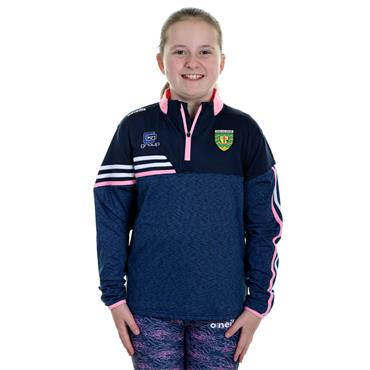 O'Neills Girls Donegal GAA Nevis 122 Brushed Half ZIp - Navy
