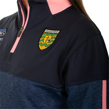 O'Neills Womens Donegal GAA Nevis 122 Brushed Half Zip - Navy